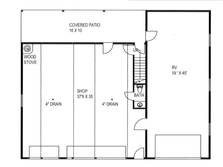 1st Floor Plan, 012G-0128