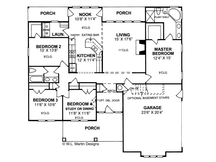 Ranch House Plans Affordable Ranch Home Plan With Four