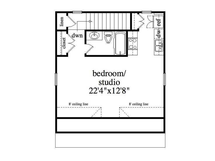Garage apartment plans 2 car garage studio apartment for Garage studio apartment plans