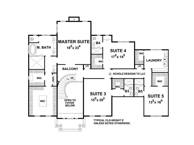 2nd Floor Plan, 031H-0278