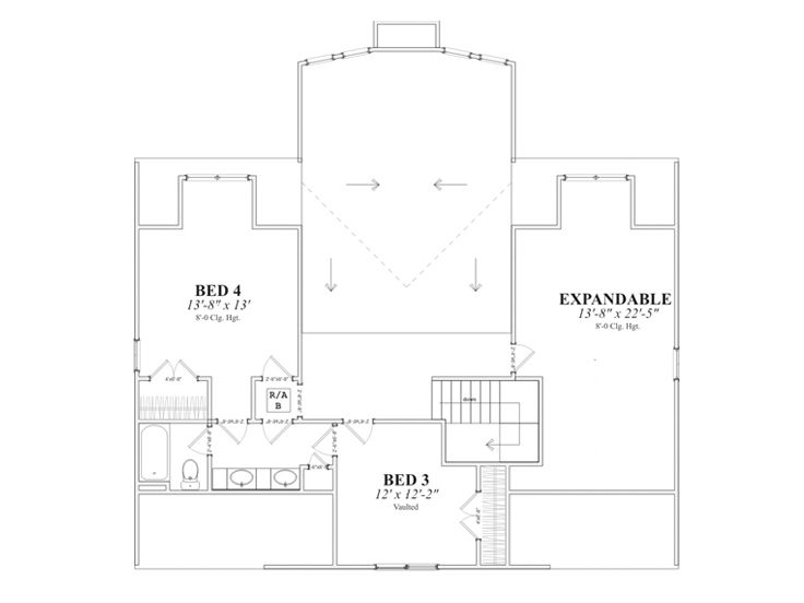2nd Floor Plan, 073H-0041