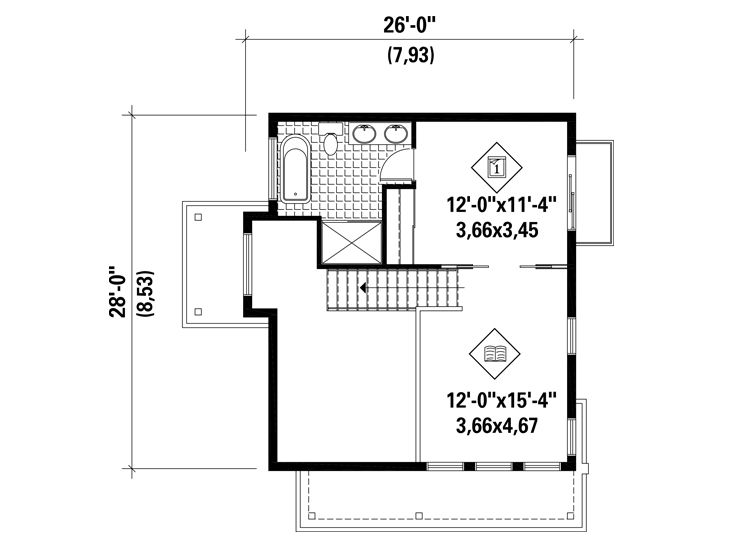 2nd Floor Plan, 072H-0211