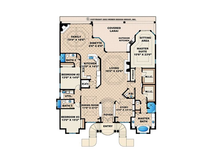Sunbelt house plans sunbelt home plan with florida for Sunbelt house plans