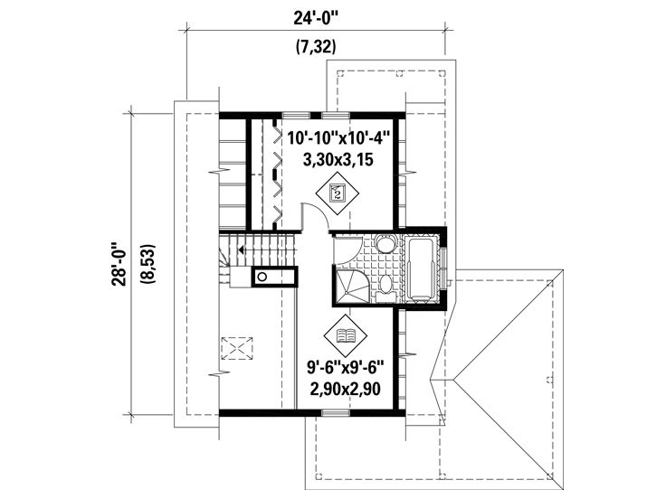 2nd Floor Plan, 072H-0213