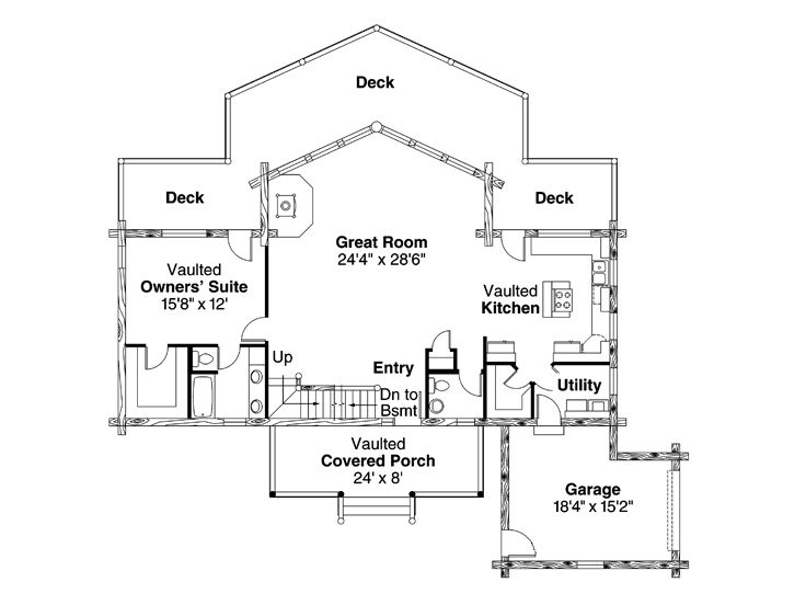 1st Floor Plan, 051L-0009