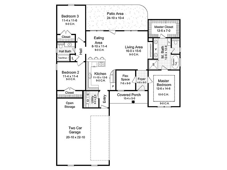 Affordable house plans one story affordable home plan for Affordable one story house plans