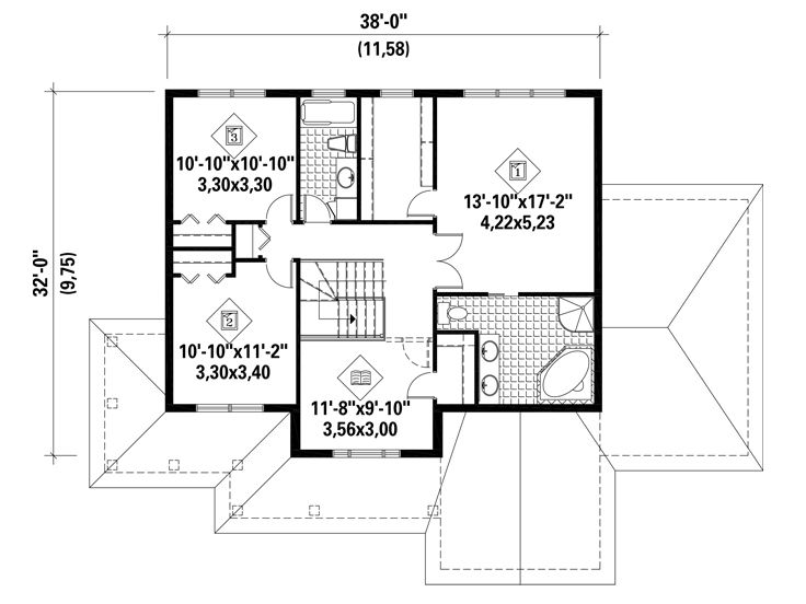 2nd Floor Plan, 072H-0158