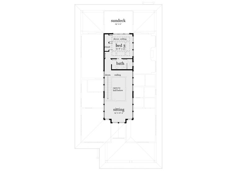 2nd Floor Plan, 052H-0039