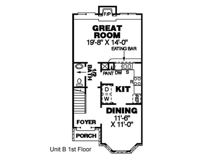 1st Floor Plan B