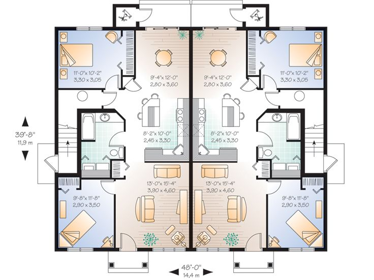 nice quadruplex floor plans #4: Beautiful Quadruplex Floor Plans #5: 1st Floor Plan