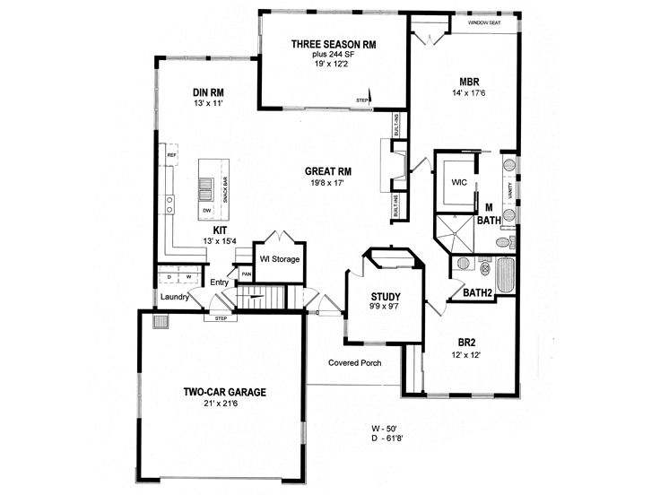 Empty Nester House Plans Small Traditional Empty