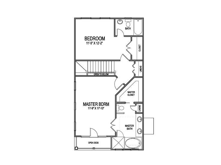 Narrow Lot House Plans Narrow Beach Home Plan 058H
