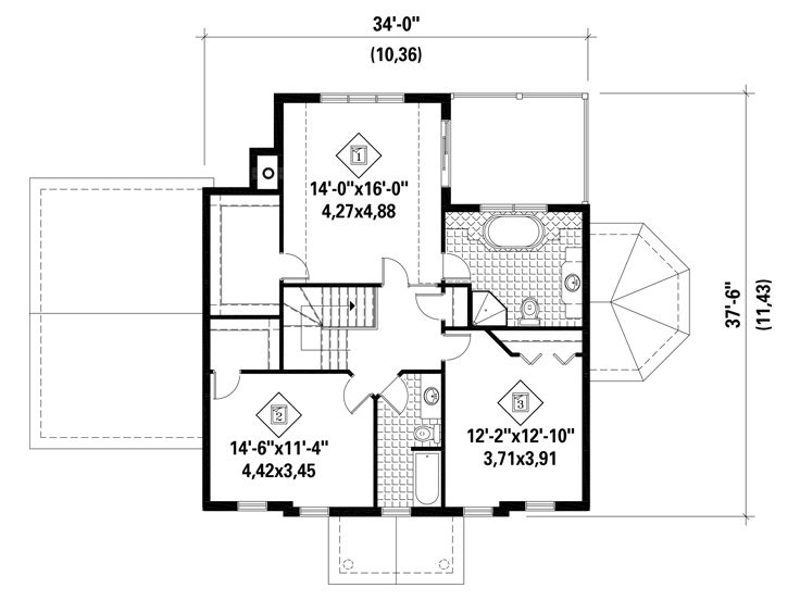 2nd Floor Plan, 072H-0236