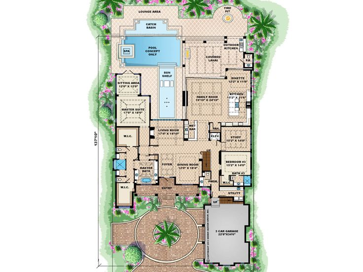 5 Bedroom Ranch Layout