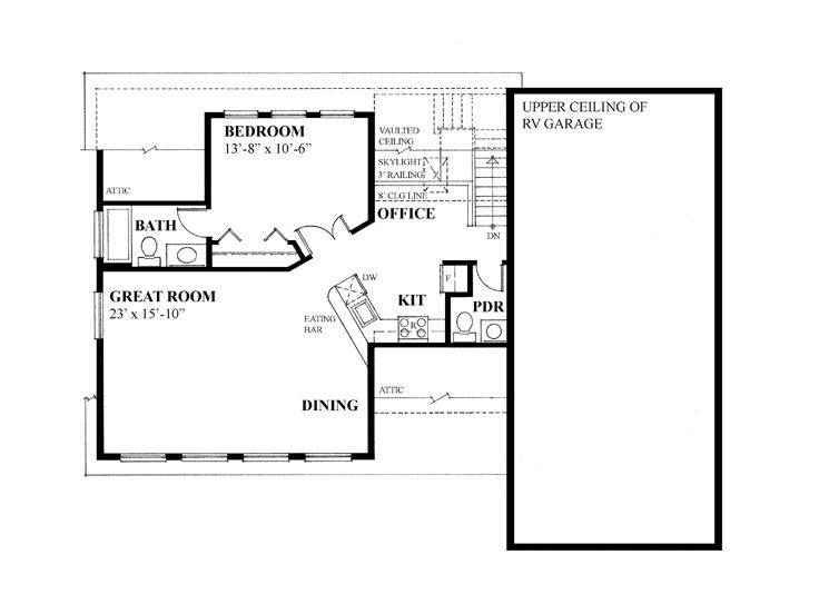 Garage apartment plans garage apartment plan with 3 car for Rv apartment plans