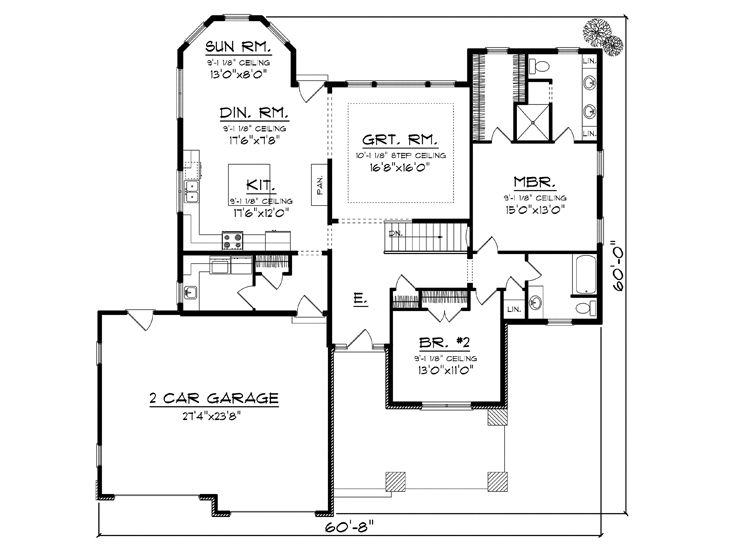 Empty nester home plans empty nester house plan ideal for Small empty nester home plans
