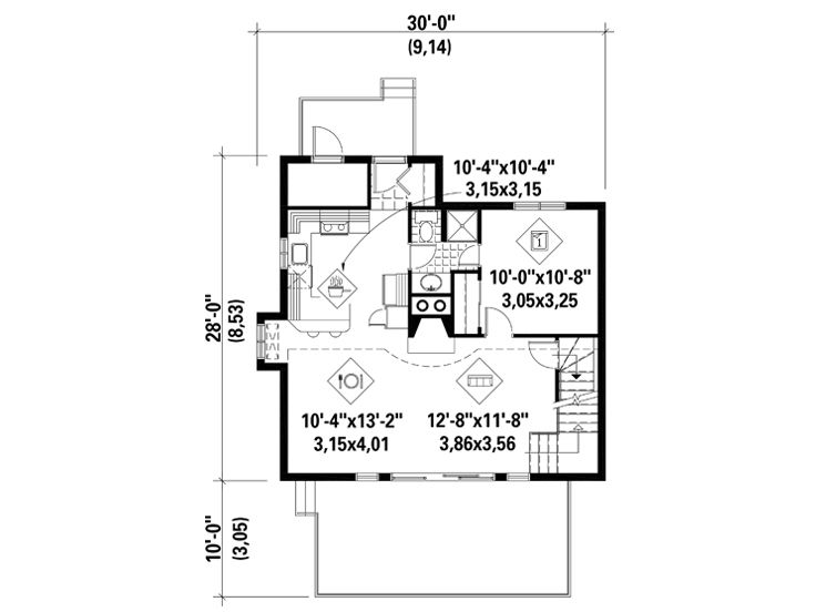 1st Floor Plan, 072H-0003