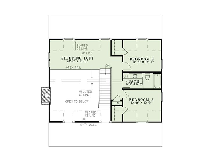 2nd Floor Plan, 025H-0317