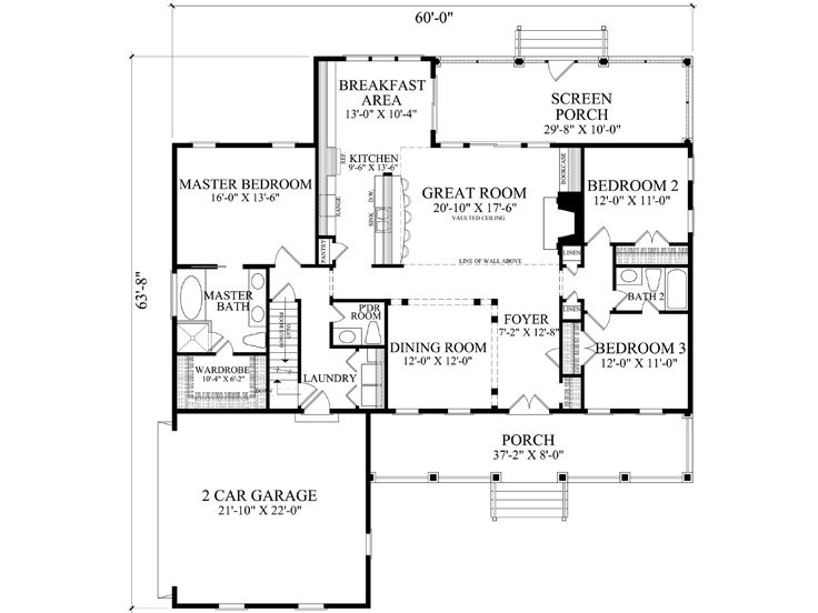1st Floor Plan, 063H-0226