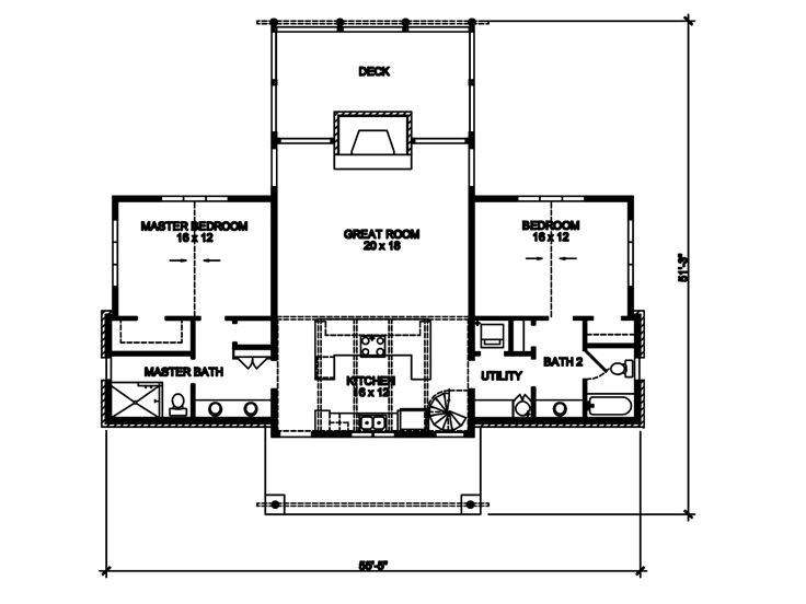 Empty nester house plans two story empty nester home for 1 5 story house plans with loft