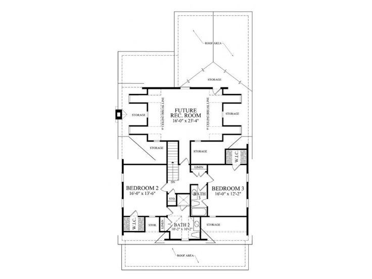 2nd Floor Plan, 063H-0150