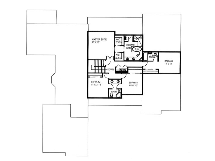 2nd Floor Plan, 012H-0216