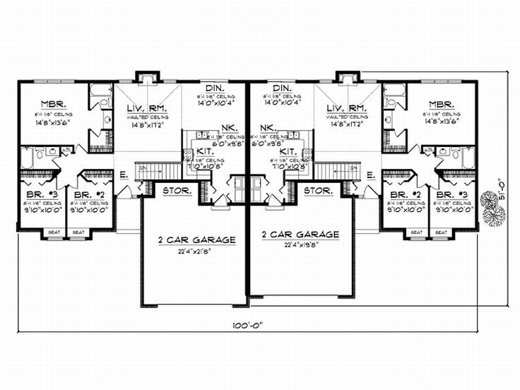 Plan 020m 0017 find unique house plans home plans and for Unique duplex plans