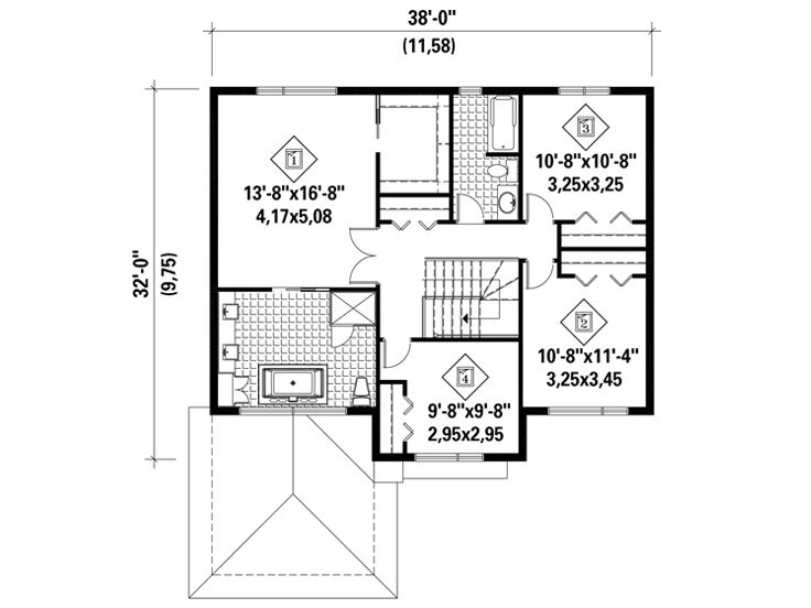 2nd Floor Plan, 072H-0162