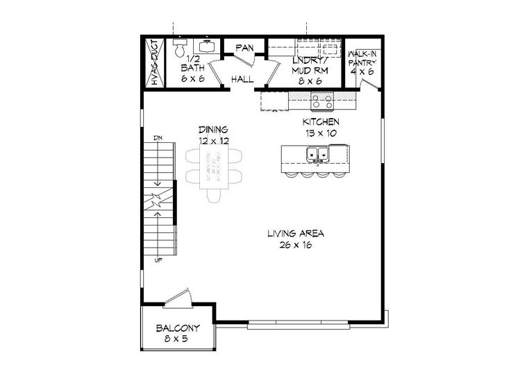 1st Floor Plan, 062G-0141