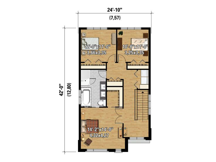 2nd Floor Plan, 072H-0141