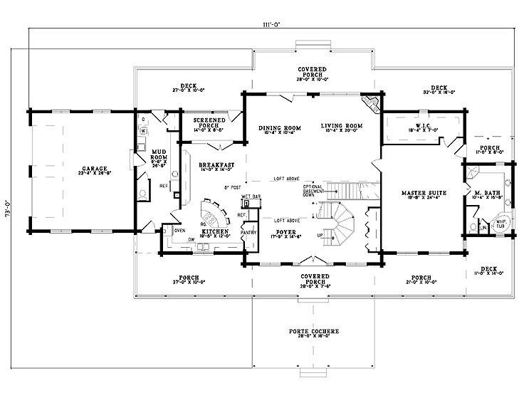 Plan 025l 0039 find unique house plans home plans and for House plans porte cochere