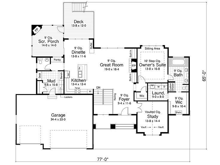 Plan 023H0095 Find Unique House Plans Home Plans and Floor Plans – Floor Plans With Great Rooms