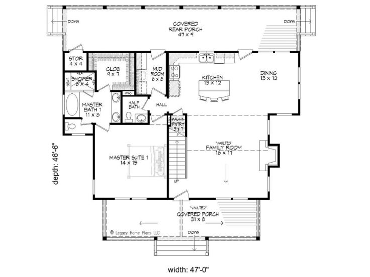 1st Floor Plan, 062H-0029