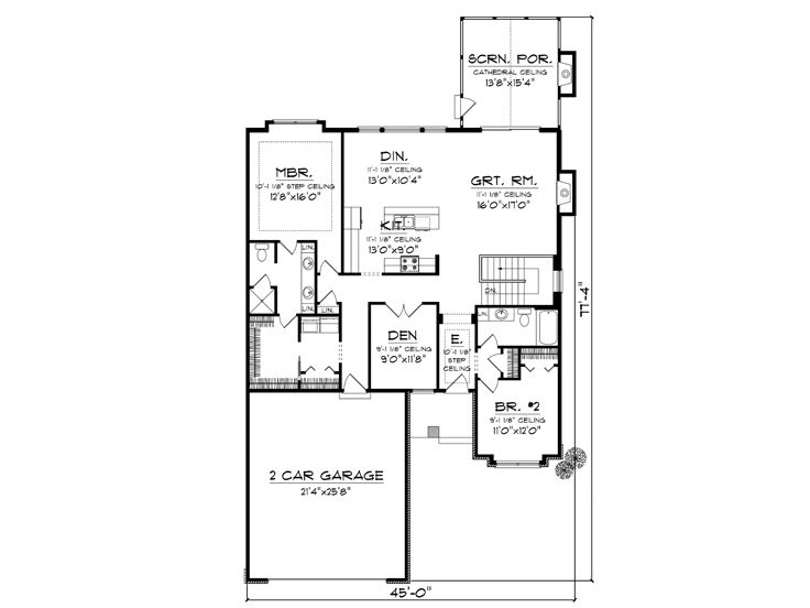 Empty nester house plans affordable empty nester home for Empty nester floor plans