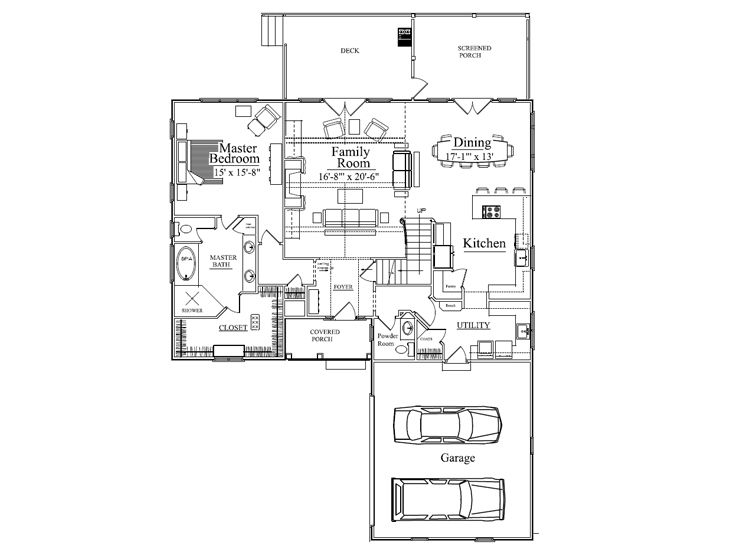 1st Floor Plan, 049H-0011