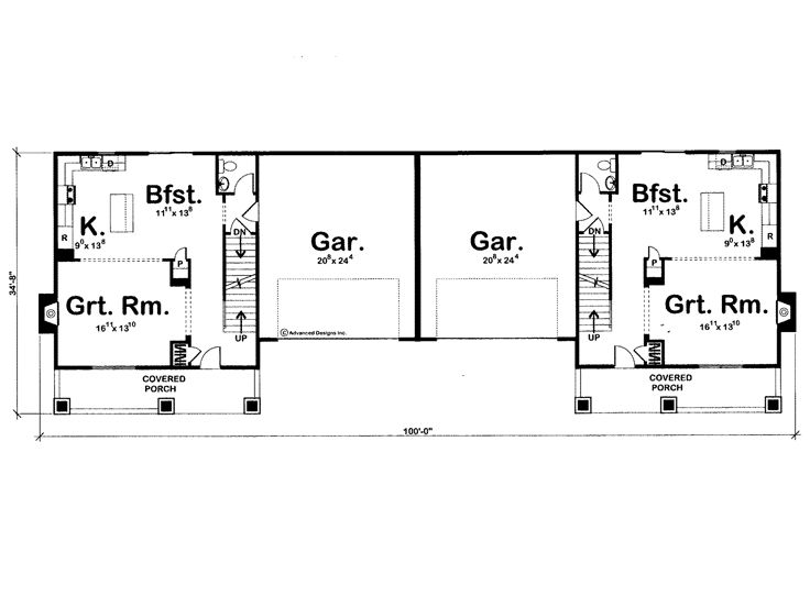 1st Floor Plan, 050M-0005