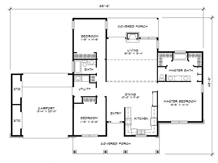 Affordable home plans affordable 1 story house plan for Affordable one story house plans