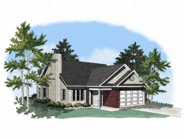 Narrow Lot House Plan, 019H-0015