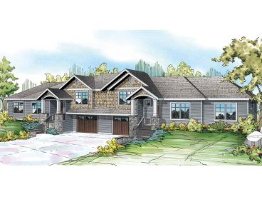 Duplex House Plan, 051M-0022
