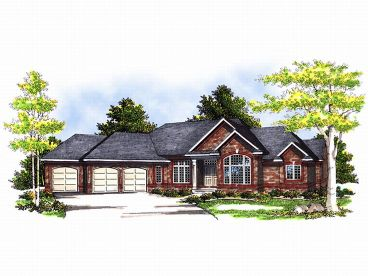 Ranch House Plan, 020H-0055