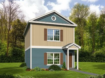 Narrow Lot House Plan, 062H-0148