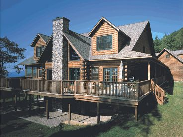Mountain Log House Plan, 031L-0013