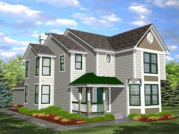 Narrow Lot House Plan, 016H-0006