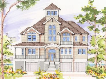 Beach House Plan, 041H-0113