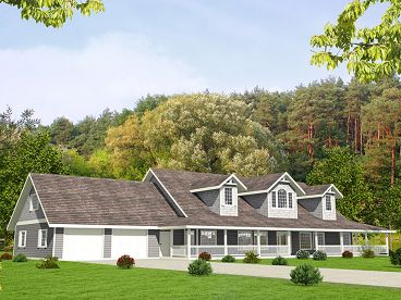 Country House Plan, 012H-0250
