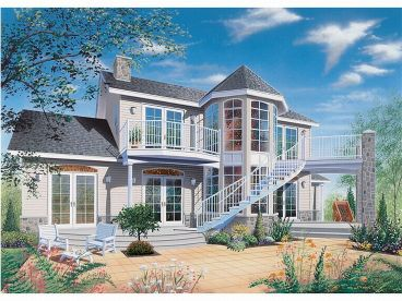 Waterfront Home, Rear, 027H-0031