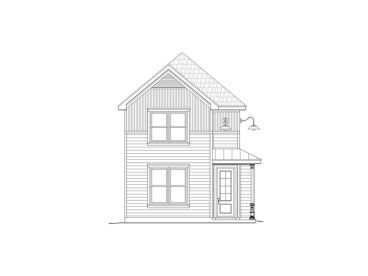 Narrow Lot Home Plan, 062H-0047