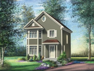 Small Victorian House Plan, 072H-0168