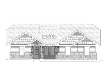 Craftsman House Plan, 062H-0080