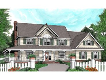 Country Home Design, 044H-0040